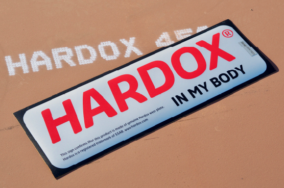 HARDOXの製品