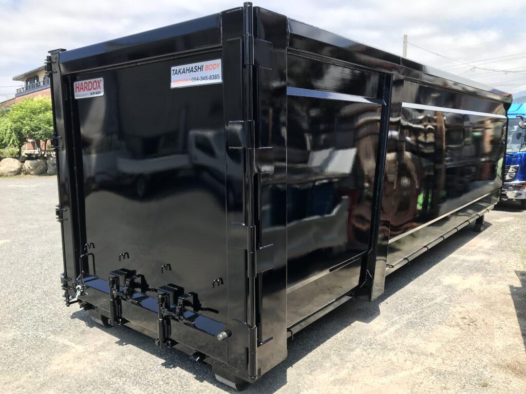 産業廃棄物運搬のHARDOXコンテナ